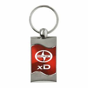 Scion Scion xD Key Ring Red Wave Keychain