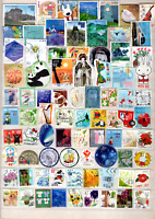 JAPAN 100 LARGE COMMEMORATIVE & PREFECTURAL  OFF PAPER DIFFERENT ONLY 82 CENT