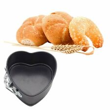 Small Heart-shaped Cake Baking Tray Movable Button Mold With Carbon Steel#^