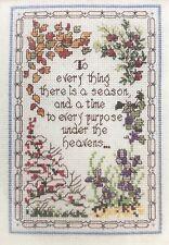 Sunset Jiffy ~ ALL SEASONS VERSE ~ Counted Cross Stitch #16575 lilacs snow Bible