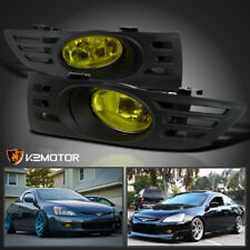 For 2003-2005 Accord 2Dr Coupe Yellow Lens Bumper Fog Lights+Switch