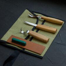 Cuero Suavizador de navajas 6 piezas Juego de herramientas de talla de madera gancho Cuchillo para trinchar herramientas artesanales