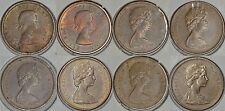 CANADA Lot of 8 x 1 cent [1957-1976] with DOUBLINGS on obverse -circulated