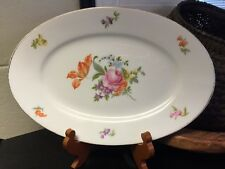 "Vintage Bavaria Thomas (Rosenthal)  Floral Flowers OVAL PLATTER 12 7/8"""