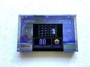 DENON LAPISIA 80 vintage audio cassette blank tape sealed Made in Japan Type I