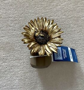 Yankee Candle Scent Plug Base SUNFLOWER Gold Brown Bumble Bee Electric Diffuser