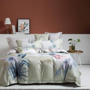 Spring Flowers Bedding Set 4pcs Pure Cotton Quilt Cover Flat Sheet 2 Pillowcases