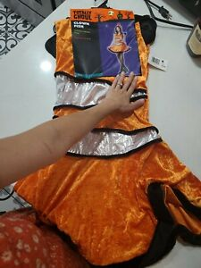 Totally Ghoul Clown Fish Dress with hood Costume New Teen/Woman
