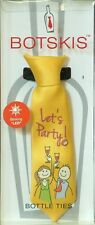 "Botskis - Wine Bottle Tie ""Let's Party!"" with Blinking LED Golden -New"