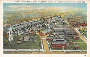 Lufkin Foundry Machine Co Factory Aerial View Lufkin Texas 1930s postcard