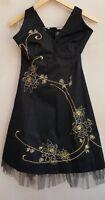 Ladies Evening Halter Neck Dress  Black UK10 Bay<MP345