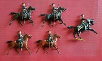 Britains Royal Army Service Corps Mounted ???? Officer and 4 Men