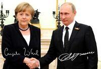 ANGELA MERKEL + WLADIMIR PUTIN - Repro-Autogramm, 20x29cm, Großfoto, Vladimir