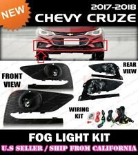 17 18 19 CHEVROLET CRUZE Fog Light Driving Lamp Kit w/ switch wiring (CLEAR)