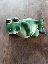 Vintage Wooden Frog Ornamant