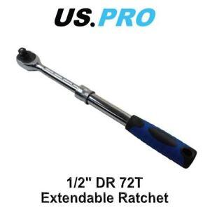 """US PRO 1/2"""" Drive Extendable Ratchet 12"""" - 18"""" 310mm - 440mm 4155"""
