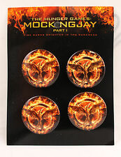 HUNGER GAMES MOCKINGJAY BROOCHES BUTTON BADGE PACK OFFICIAL