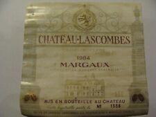 Etiquette - Château LASCOMBES - 1984 - Margaux - Grand Cru Classé - (E4)