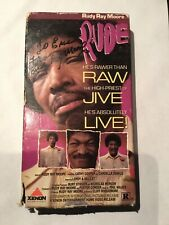 Rudy Ray Moore Autographed Signed VHS TAPES RUDE RAW JIVE & ALIVE