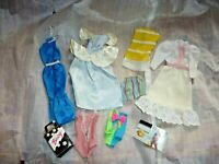 9 DRESSES BATHING SUIT Lot for Barbie Doll + Hand Machine Made Some Tags (M0 01)