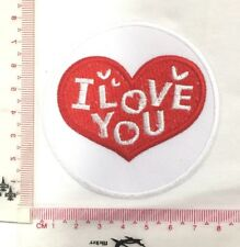 DIY I LOVE YOU Red Heart Emblem Sew Iron-On Embroidered Applique Patch Badge