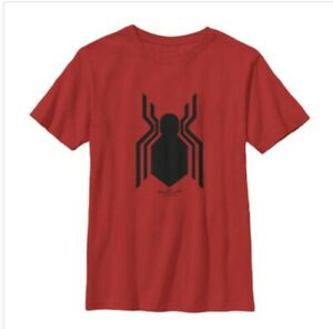 """Marvel  - """"Spiderman Homecoming"""" Classic Logo Red T-shirt - Sz S"""