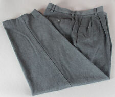 Mens' DOCKERS D2 CLASSIC FIT Gray Dress Pants 34x34 Pleated Front Straight Leg