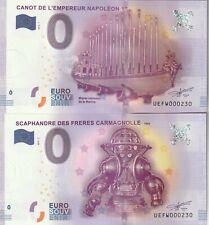 A 2016-1+2016-2 BILLET EURO SOUVENIR - UE FW -  75 016 MUSEE DE LA MARINE N° 230