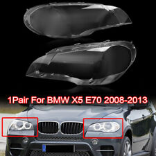 One Pair of Headlight Lens Head Lamp Cover Lampshade for BMW X5 E70 2007-2012 AU