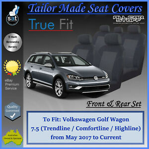 Tailor Made Seat Covers for Volkswagen Golf Wagon 110TSi 7.5: 05/2017 to Current