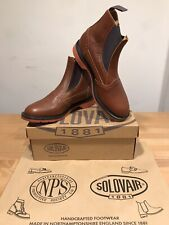 NPS SOLOVAIR Leather Brown Chelsea Brogues Boots! Size UK9! New! Only £139.90!!!