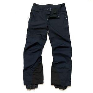 Patagonia Sz 36 Men's Black Snow Ski Pants Nylon Mesh Lined