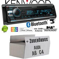 Audi A6 C4 Autoradio Radio Kenwood DAB+ Bluetooth CD USB iPhone Einbauset DAB