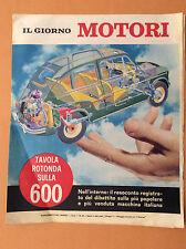 IL GIORNO MOTORI ANNO I N° 28 INSERTO IL GIORNO FIAT 600 DAILMER 2500