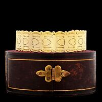 Vintage Native Sterling Silver Gold Wash Navajo Pawn Heart Stamped Cuff Bracelet