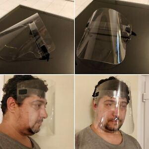 Full Face Shield Visor Clear and Adjustable Made In UK PPE