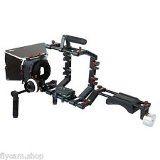 FILMCITY DSLR Camera Cage Shoulder Mount Rig Kit Follow Focus & Matte box