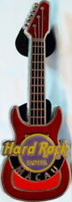 Hard Rock Hotel MACAU 2009 2-Tone Red Metal GUITAR PIN - HRC Catalog #51595
