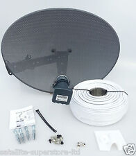 Sky / Sky HD / Freesat HD Satellite Dish & Full 25m Single White Install Kit