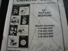 "MTD tractor,mtd lawn mower 22"" models,rotary mower,owners manual"