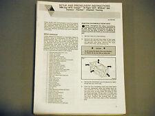 New listing 1990 Arctic Cat Setup Manual Covers Most Models