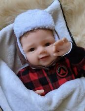 Ashton Drake Happy Camper Reborn Collectible Baby Boy Doll realistic rooted hair