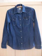 Bluse Jeansbluse Jeanshemd Blau Lee Western Slim Fit Gr. S