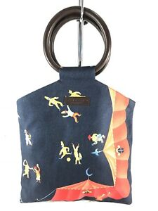 BVLGARI Authentic Navy Blue Girotondo Di Marionette Circus Limited Edition Bag