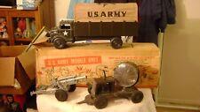 "Old 18"" MARX / Lumar US Army Mobile Truck Unit / Original Box - 1950s - XLNT"