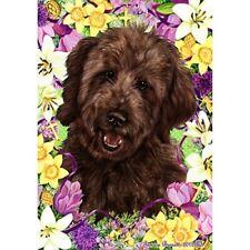 Easter Garden Flag - Chocolate Goldendoodle 332691