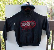 JOHNNY BLAZE New York NYC Black Red Hoodie RAP Hip Hop Sweatshirt Size L