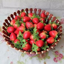 10pcs Decorative Fake Fruits Artificial Strawberry Red Strawberries Decorations