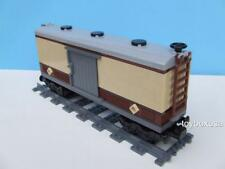 New Custom Built Box Car Train Built W/ New Lego Bricks ( 10194 Emerald Night )