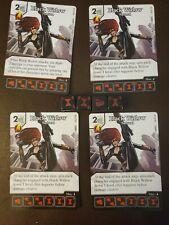 Marvel Dice Masters Avengers Vs. X-Men Avx Black Widow Common Rare 4 cards&dice